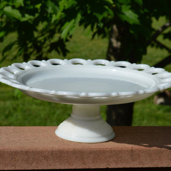 Milk Glass Old Colony Cake Stand