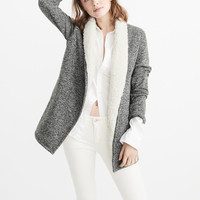 Womens Sherpa-Lined Cardigan | Womens Tops | Abercrombie.com