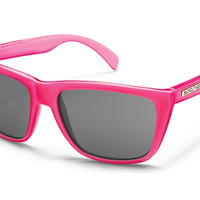 Suncloud - Standby Electric Pink Sunglasses, Gray Polarized Lenses