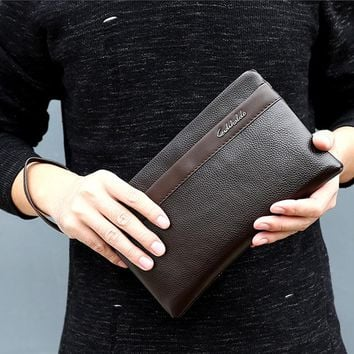 Leather Wallet Man Design Wallets Clutch Purse Male Handy Bags Business Carteras
