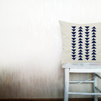 Triangle pillows decorative throw pillows geometric pillows chevron throw pillows Christmas pillows navy arrow pillows 14x14 inches pillows