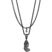 Mister  Pray Necklace - Black