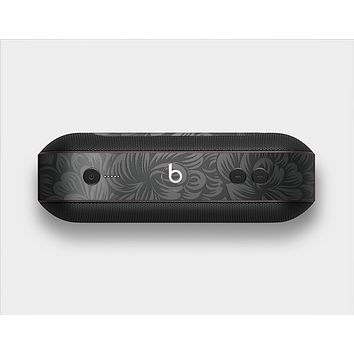 The Black & Gray Dark Lace Floral Skin Set for the Beats Pill Plus