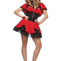 Red Fancy and Halloween Mini Dress Costume