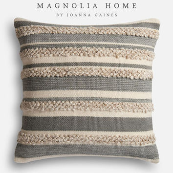 Magnolia Home Zander Gray & Ivory Oversized Pillow