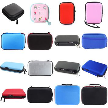 Full Size Earphone Wire Storage Box Zipper Protective Data Line Cables Storage Container Organizer Case Earbuds SD Card Box