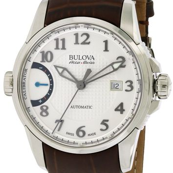 Bulova AccuSwiss Calibrator Leather Automatic Watch 63B171