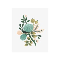 Blue Botanical Art Print by RIFLE PAPER Co. | Made in USA