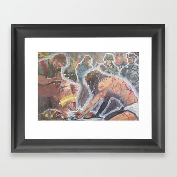 Come to me all whom are weak. Framed Art Print by Tony Silveira
