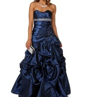 Narcissa- Navy Strapless Prom Gown