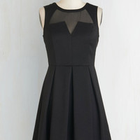 ModCloth LBD Short Length Sleeveless A-line Seen Around Town Dress