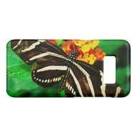 Chic, cute black and white striped butterfly photo Case-Mate samsung galaxy s8 case