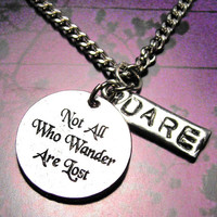 Not all who wonder are lost necklace by MyTinyTemptations on Etsy