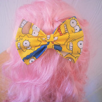 The Simpsons Hair Bow / Hair Bow / Bart Simpson / Lisa Simpson / Marge Simpson / Homer Simpson / Cartoon Hair bow / Fabric Bow