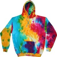 tie dye Adult Tie-Dyed Spider Blended Hoodie - Multi Rainbow - M