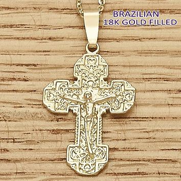 Gold Layered Women Bee Religious Pendant, by Folks Jewelry