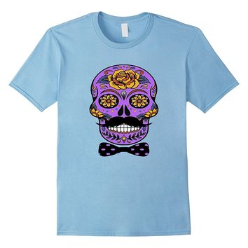 Funny Halloween Skull T-Shirt - Day Of The Dead Tee Shirt