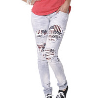 Americana Destroyed Skinny Jean | Shop Jeans at Wet Seal
