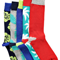 Floral Pattern 5 Pack Socks