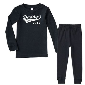 daddy since 2015   mens funny Infant long sleeve pajama set