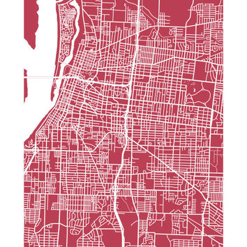 Memphis City Map Print