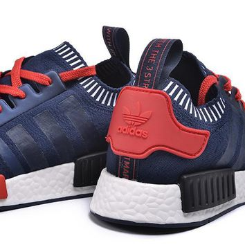 Best Sale Adidas NMD Blue/Black/Red