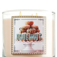 14.5 oz. 3-Wick Candle Cinnamon Sugared Doughnut