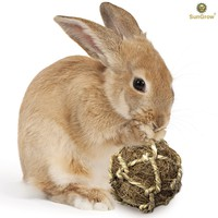 Natural Rabbit Chew Toys by SunGrow - Hand Woven, Safe & Edible for Rabbits, Chinchilla, Bunnies, Kittens, and Hamsters