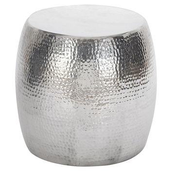 Peter Hammered Stool, Silver, Standard Stools