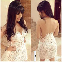 White Sheer Mesh Lace Dress