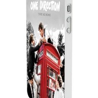 One Direction Red Phone Booth Custom Case for Iphone 5/5s Iphone 6/6 Plus Black and White (iPhone 5/5s White Plastic)