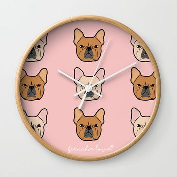 Frenchie Addiction by Frenchie Love Wall Clock by Frenchie Love