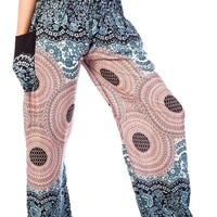 Boho Harem Yoga Pants - Rose White