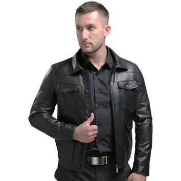 AIBIANOCEL 2017 New Style Casual Men Faux Leather Jacket Mens Leather Bomber Jacket LEATHER JACKETS MAN