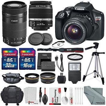 Canon EOS Rebel T6 DSLR Camera Bundle EF-S 18-55mm f/3.5-5.6 IS II Lens,Flash,UV Filter,Tripod &More