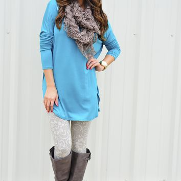 Piko Boo Tunic: Bright Teal | Hope's