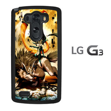 Zelda and wolf twilight princess Z0255 LG G3 Case