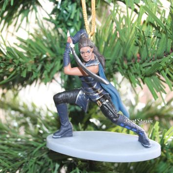 Licensed cool Custom Thor Ragnarok VALKYRIE Ornament PVC Disney Marvel Holiday Christmas