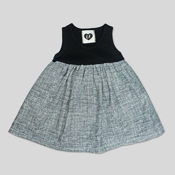 3-6 Month Black Baby Dress Baby Dress Baby Girl Dress Girl's Clothes Baby Gift Black and White