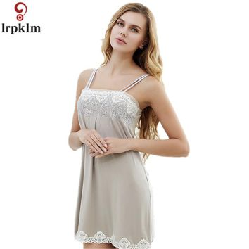 Summer Femal Short Sexy Lace Nightdress Sleeveless Nightgown Strap Strip Steel Nightgowns Women Chemise De Nuit Sexy SY318
