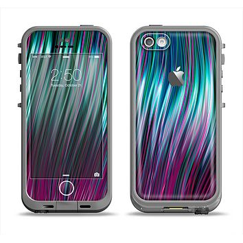 The Pink & Blue Vector Swirly HD Strands Apple iPhone 5c LifeProof Fre Case Skin Set