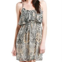 A'GACI Paisley Cami Ruffle Dress - Dresses