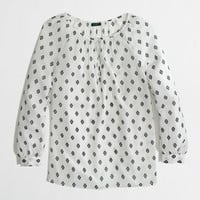 Factory printed keyhole top - blouses/tees - FactoryWomen's Shirts & Tops - J.Crew Factory