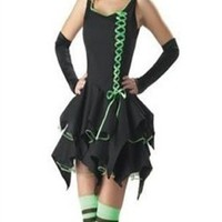Sexy Adult Halloween Costumes Witch Costume Black Mini Dress