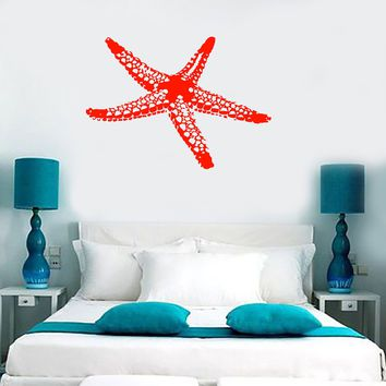 Wall Vinyl Decal Sea Star Fish Marine Ocean Beach House Decor Unique Gift m003