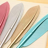 VESNIBA 4PCS New Cute Wing Feather Ballpoint Ink Pens Creative Stationery Student Gift