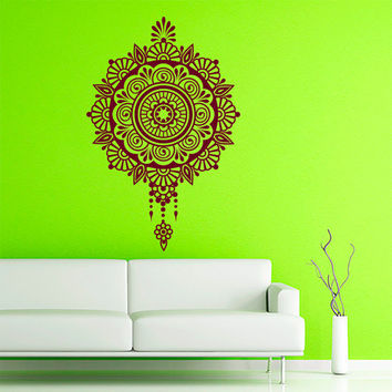 Wall Decals Mandala Decal Vinyl Sticker Moroccan Pattern Namaste Indian Circle Interior Home Decor  Art Mural Yoga   Bedroom Dorm Studio AL2