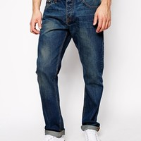 ASOS Straight Jeans In Mid Wash