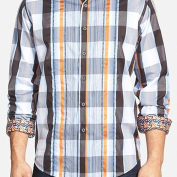 Men's Robert Graham 'Tower Bridge' Classic Fit Mixed Print Sport Shirt,