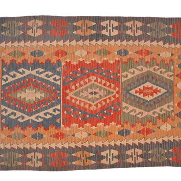 "Turkish Kilim Turkish 3' 10"" X 5' 9"" Handmade Rug"